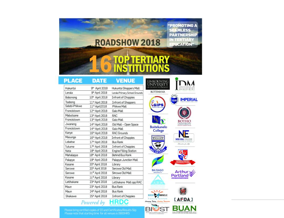 National Road Shows 2018